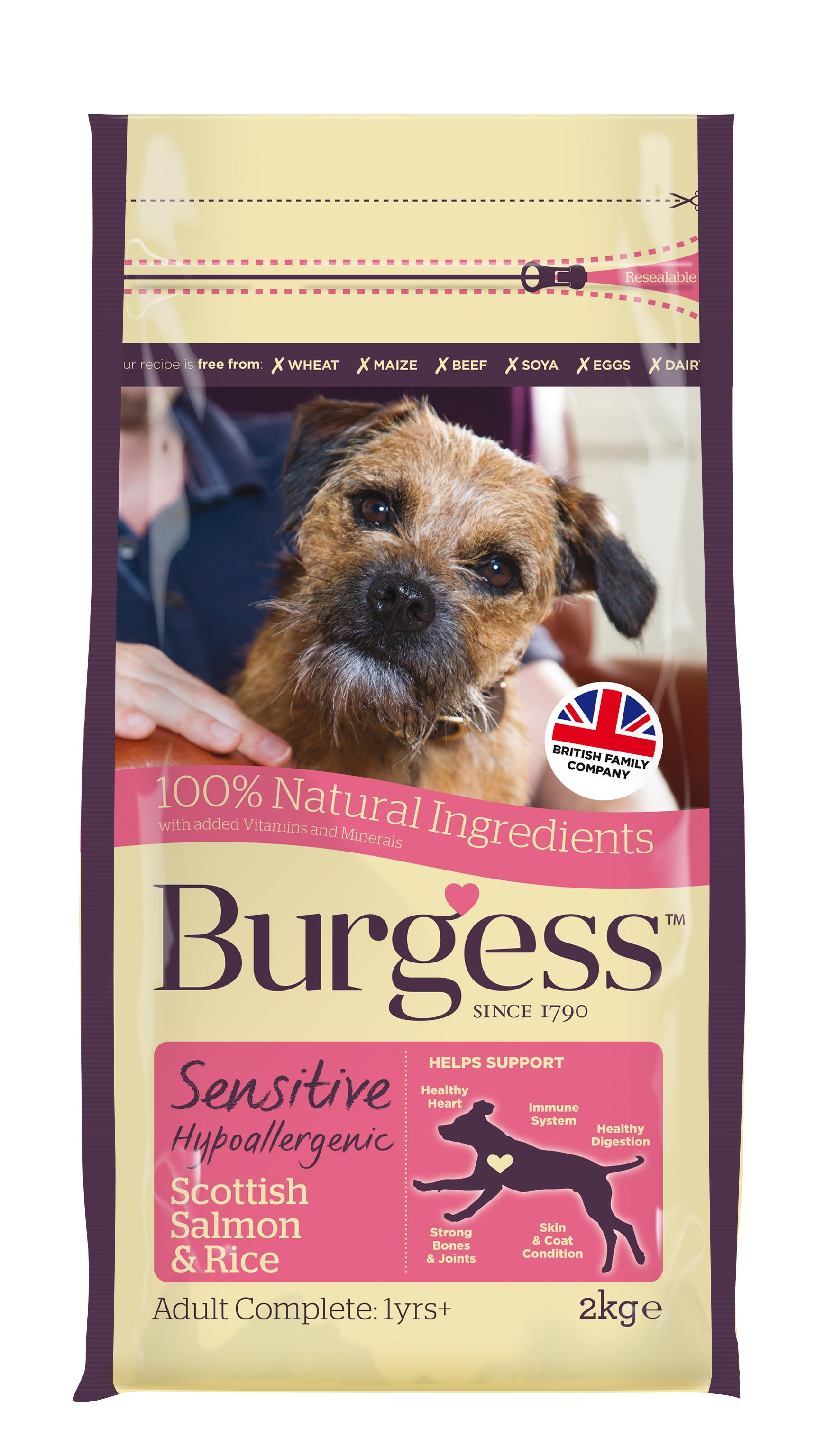 Burgess Sensitive Adult Dog Salmon