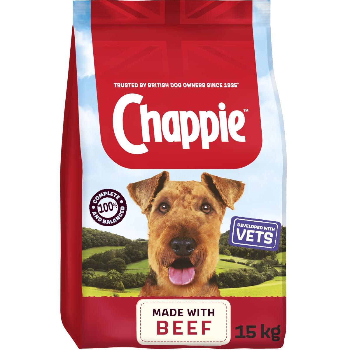Chappie Beef Dry Dog Food 15kg