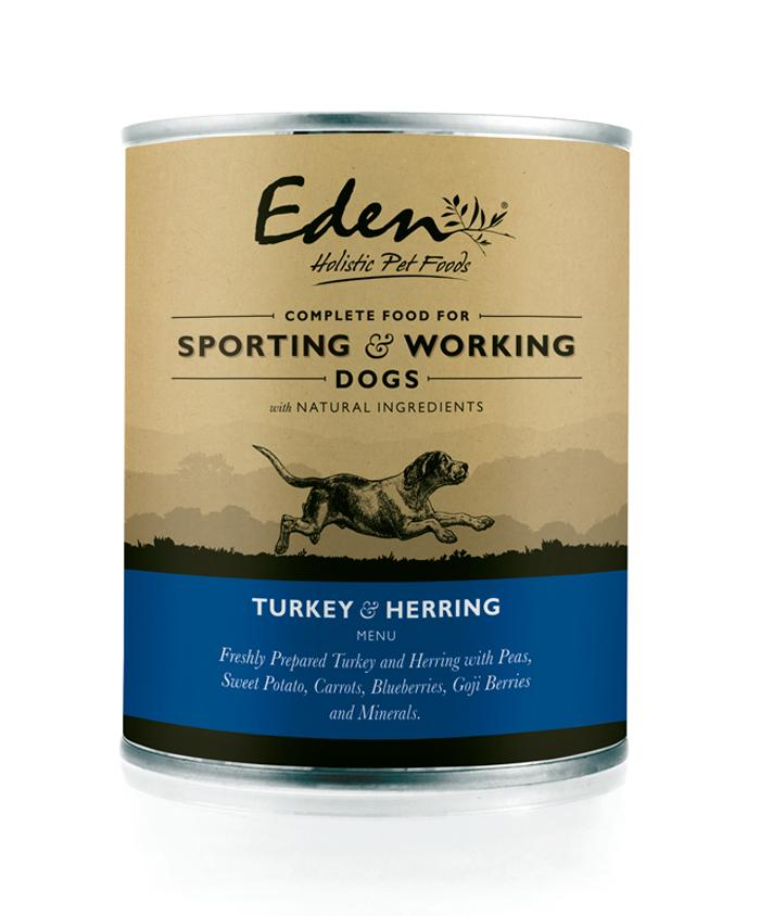 Eden turkey herring wet dog food