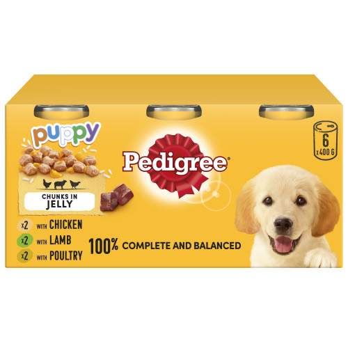 Pedigree Puppy Cans with Jelly 6 Pk
