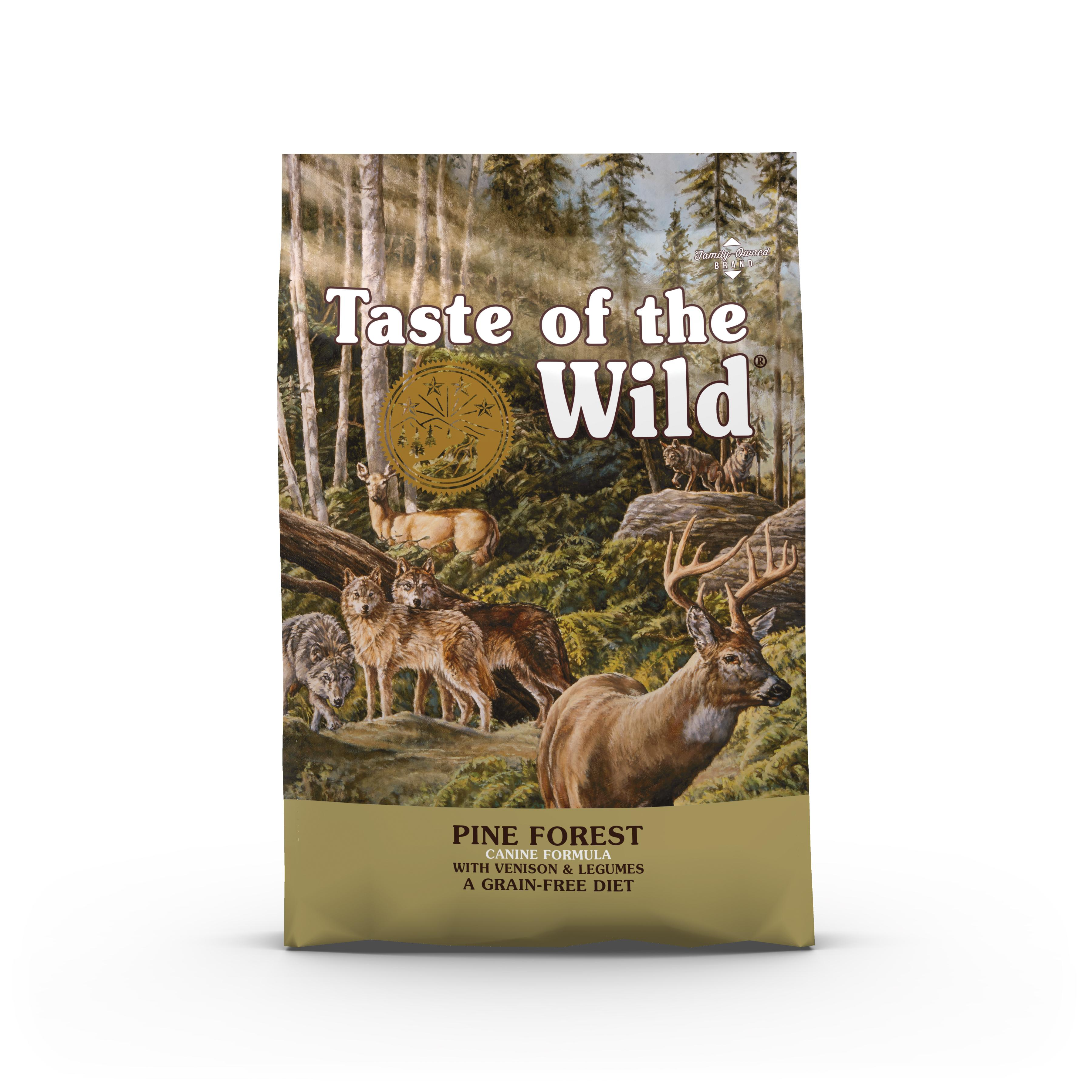 taste of the wild pine forest food