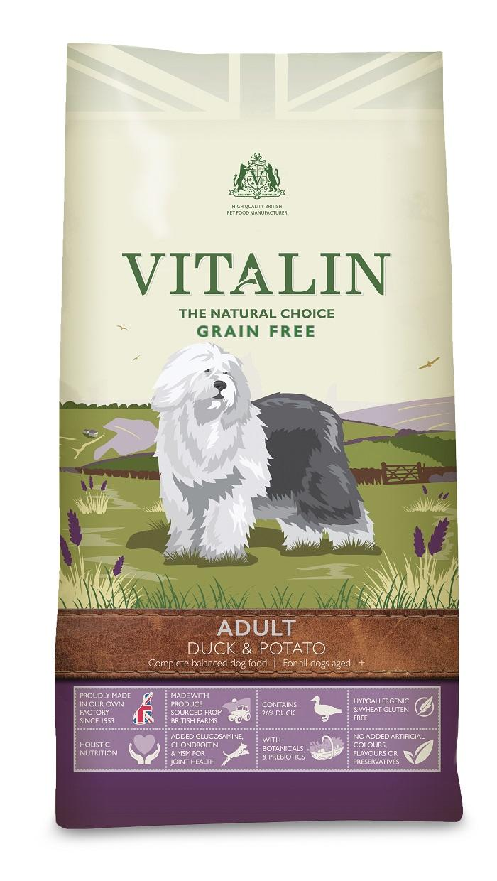 Vitalin Grain Free Duck dog food