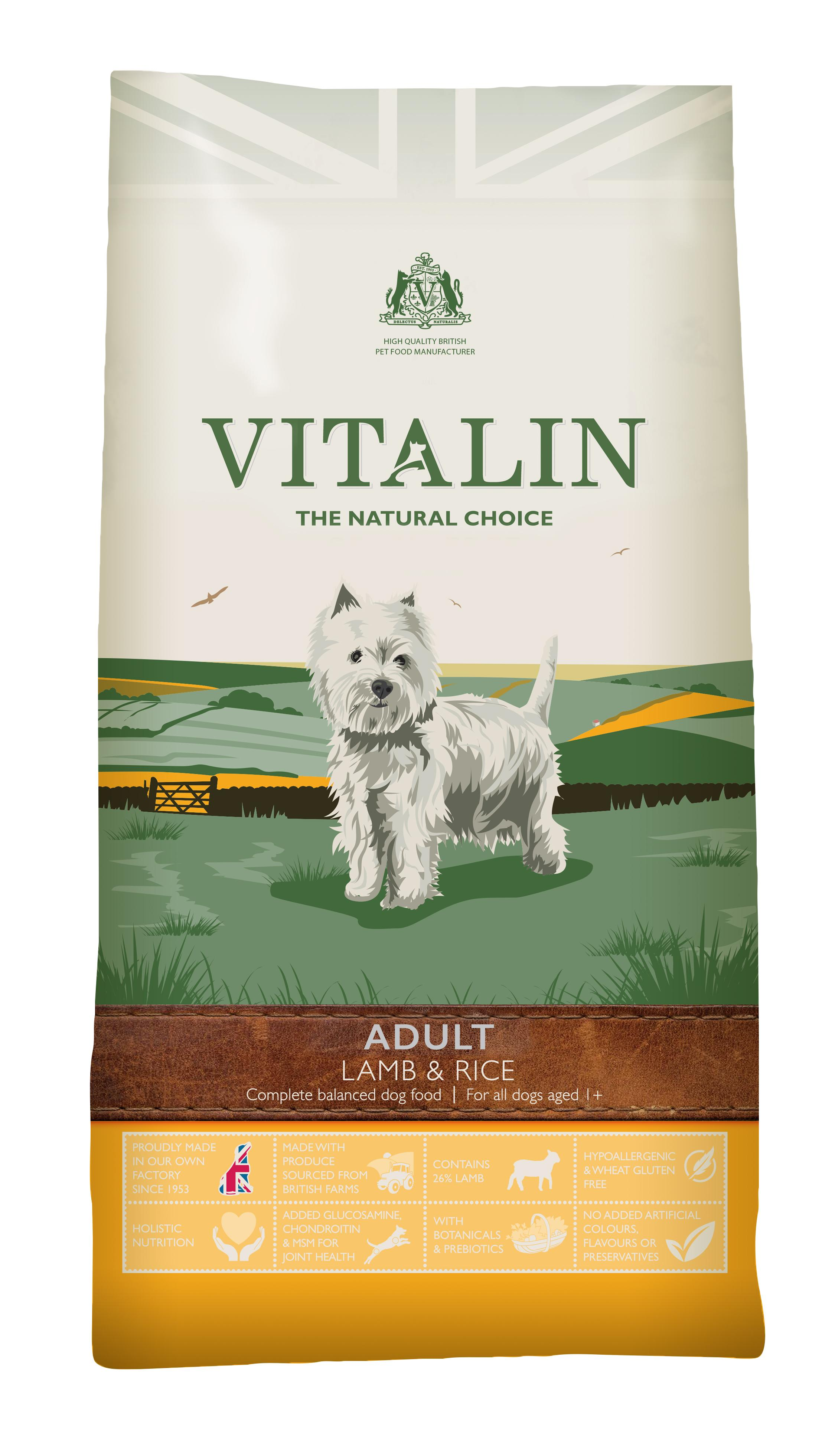 Vitalin Sensitive Lamb & Rice food